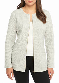 Live a Little Solid Textured Jacket