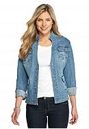 Live a Little Pleated Pocket Denim Jacket