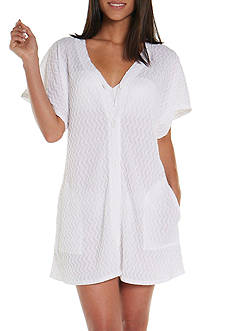 Jordan Taylor Textured Knit Tunic Swim Cover Up