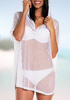 Jordan Taylor Hooded Poncho Swim Cover Up