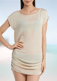 Jordan Taylor Side Shirring Tunic Swim Cover Up