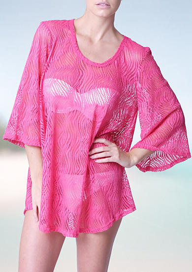 Jordan Taylor Scoop Neck Bell Sleeve Tunic Cover Up
