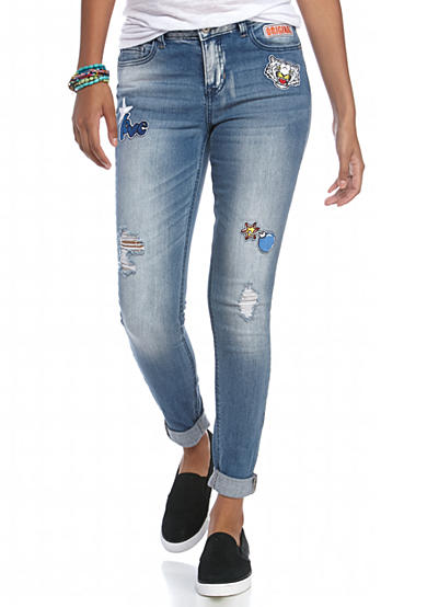 Vanilla Star Patch Jeans