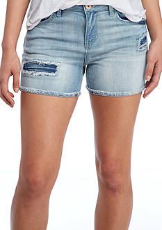 Vanilla Star Rip and Repair Shorts