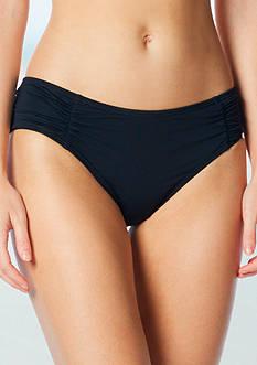 Coco Rave Solid Shirred Bikini Swim Bottoms