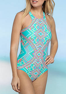 Coco Rave All Tied Up Hi-Neck One Piece Swimsuit