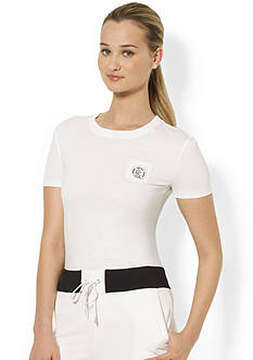 Lauren Active Short-Sleeved Pocket Crewneck