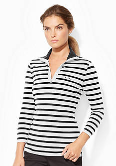 Lauren Active Striped Mockneck Pullover