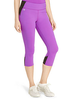 Lauren Active Color-Blocked Cropped Leggings