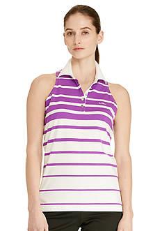 Lauren Active Striped Sleeveless Polo Shirt