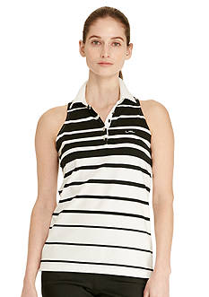 Lauren Active Striped Sleeveless Polo Shirt