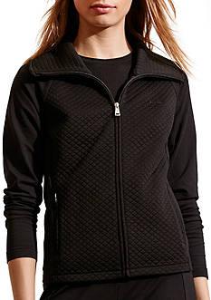 Lauren Ralph Lauren Quilted Stretch Cotton Jacket
