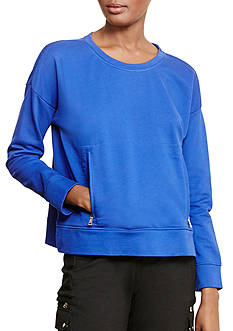 Lauren Ralph Lauren Zip-Pocket Crewneck Sweatshirt