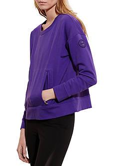 Lauren Ralph Lauren Zip-Pocket Crewneck Sweatshirt