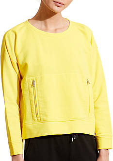 Lauren Jeans Co. Zip-Pocket Crewneck Sweatshirt