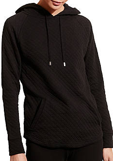 Lauren Ralph Lauren Quilted Stretch Cotton Hoodie