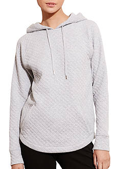 Lauren Ralph Lauren Quilted Cotton-Blend Hoodie