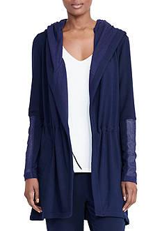 Lauren Ralph Lauren Hooded Open-Front Jacket