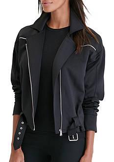 Lauren Ralph Lauren Neoprene Moto Jacket