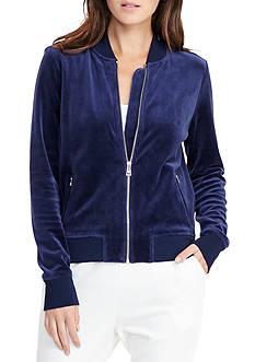 Lauren Ralph Lauren Velour Bomber Jacket