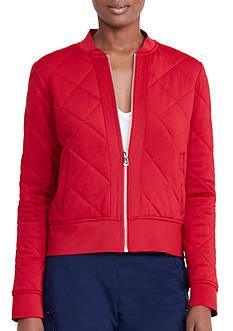 Lauren Ralph Lauren Quilted Jersey Bomber Jacket