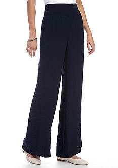 New Directions® Smocked Waist Palazzo Pant