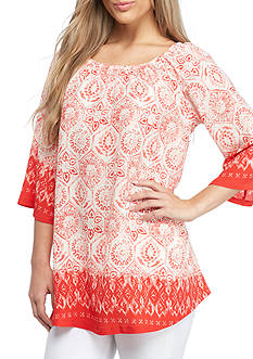 New Directions Border Print Knit Top