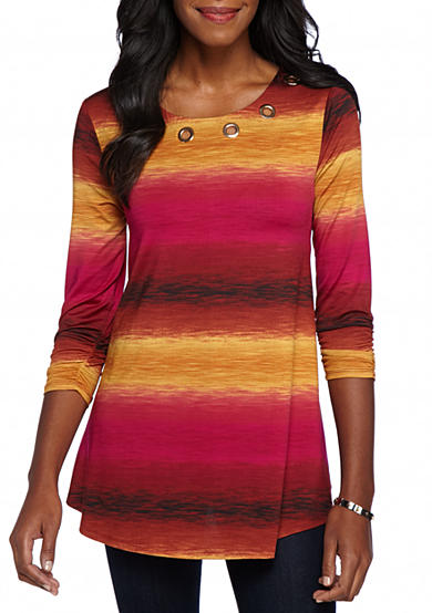 New Directions® Ombre Stripe Grommet Swing Top