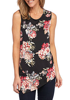 New Directions® Floral Sleeveless Swing Knit Top