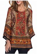 New Directions® Floral Border Printed Tunic