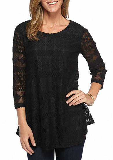New Directions® Solid Lace Swing Top