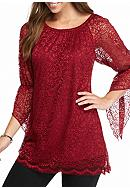 New Directions® Allover Lace Tunic