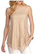 New Directions® Sleeveless Lace Top