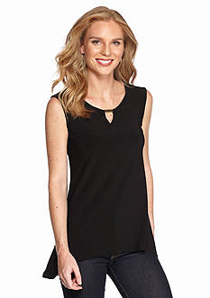 New Directions® Bar Neckline Sharkbite Top
