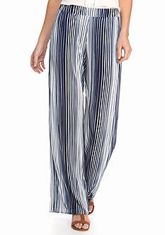 New Directions Stripe Print Wide Pants