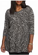 New Directions® Plus Size 3/4 Sleeve Marled