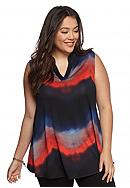 New Directions® Plus Size Ombre Swing Top