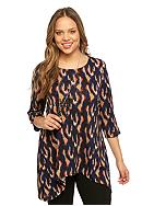New Directions® Plus Size Printed Top with