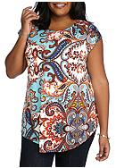 New Directions® Plus Size Paisley Printed