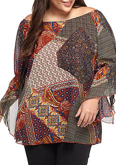 New Directions Angel Patchwork Tunic