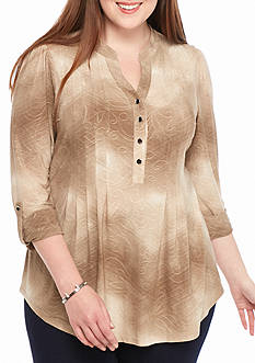 New Directions Plus Three Quarter Sleeve Tunic