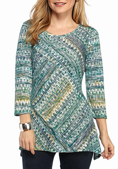 New Directions® 3/4 Sleeve Knit Tunic