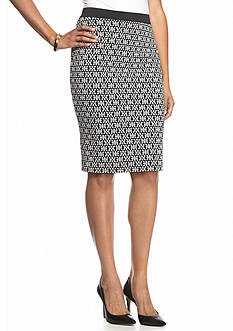 New Directions® Petite Elastic Waist Printed Pencil Skirt