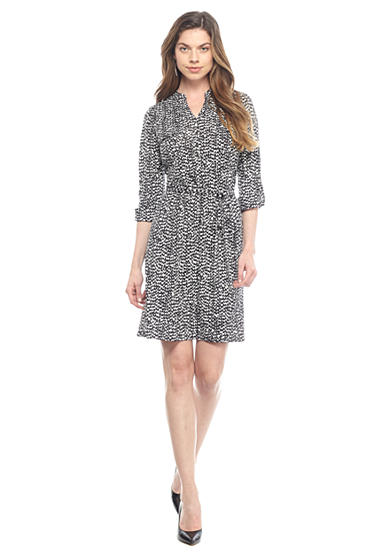 New Directions® Petite Printed Jersey Shirt Dress
