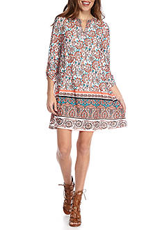 New Directions Petite Floral Print Short Dress