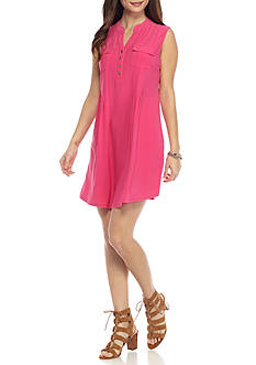 New Directions® Petite Henley Swing Dress