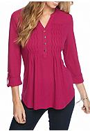 New Directions® Petite Size Henley Neck With