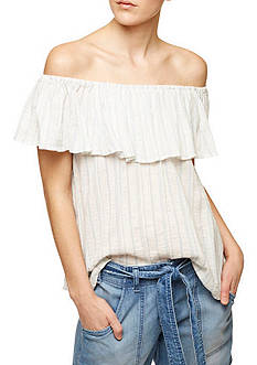 Sanctuary Misha Stripe Off Shoulder Top