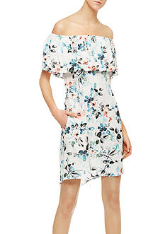 Sanctuary Stella Off-the-Shoulder Printed Dress
