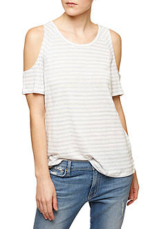 Sanctuary Lou Stripe Bare Shoulder Tee